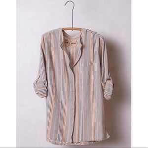 Anthropologie Ana Seff Striped Button Down Top